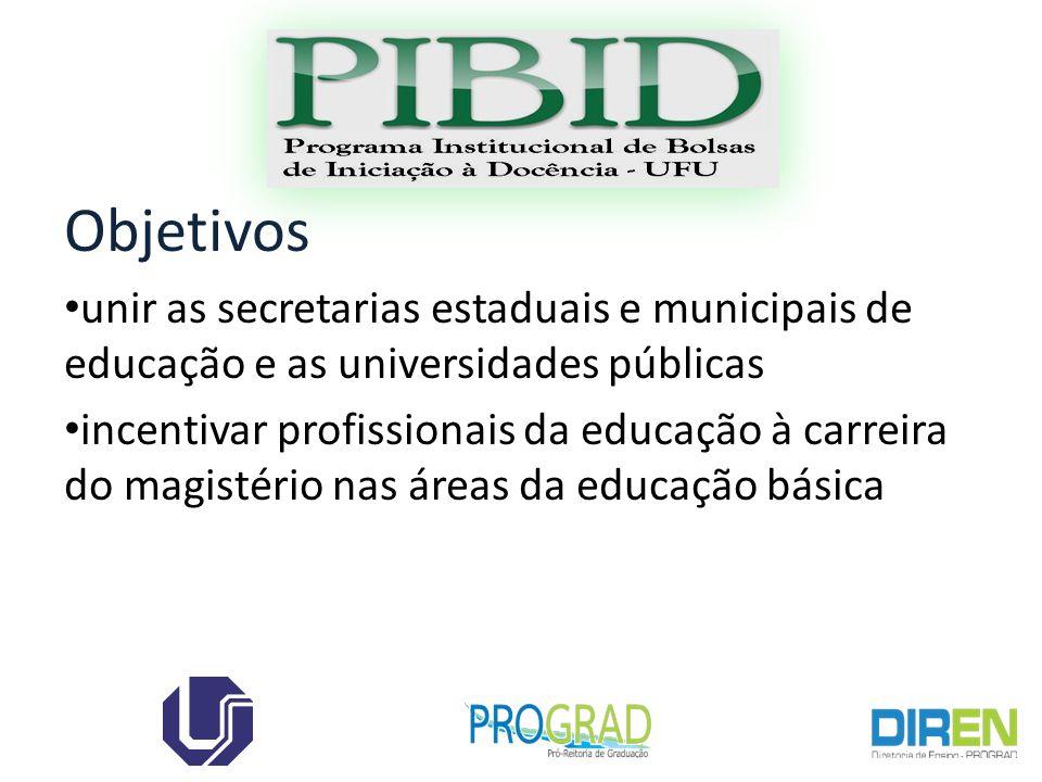 Objetivos unir as secretarias estaduais e municipais de educação e as universidades públicas incentivar profissionais da educação à carreira do magistério nas áreas da educação básica