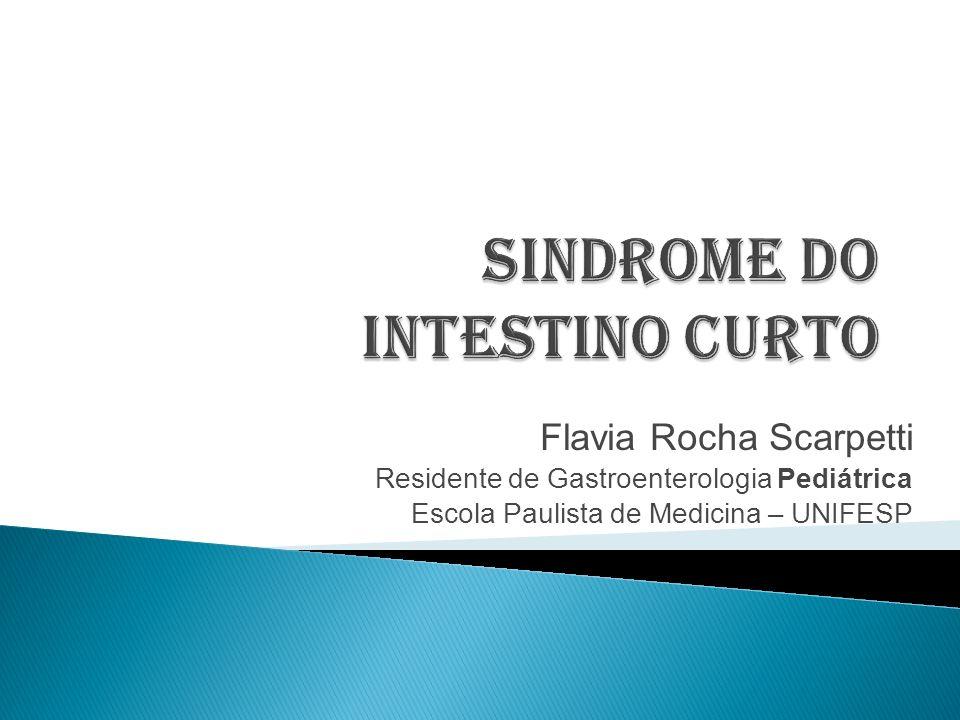 A Síndrome do intestino curto é um transtorno intestinal no qual são perdidos segmentos importantes de superfície absortiva.