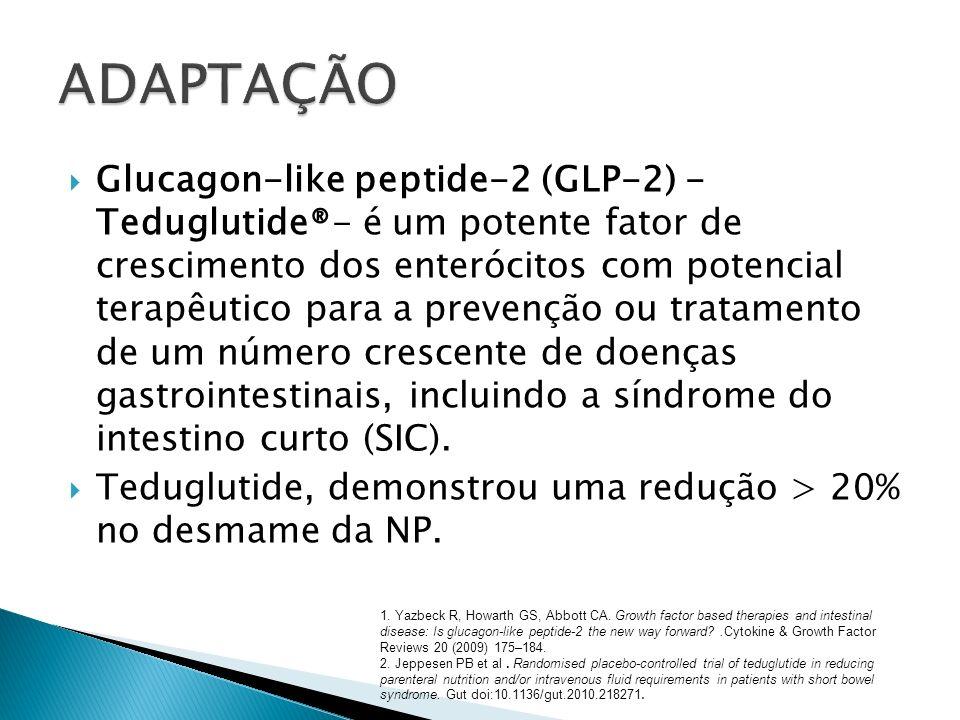 Glucagon-like peptide-2 (GLP-2) - Teduglutide®- é um potente fator de crescimento dos enterócitos com potencial terapêutico para a prevenção ou tratam