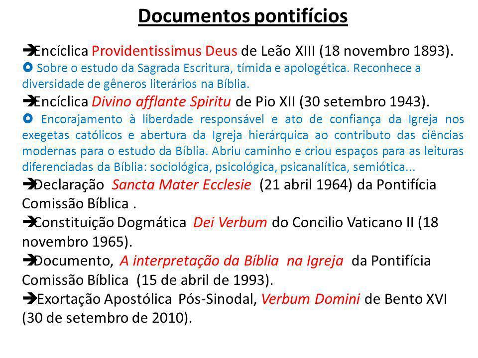 Documentos pontifícios Encíclica Providentissimus Deus de Leão XIII (18 novembro 1893).