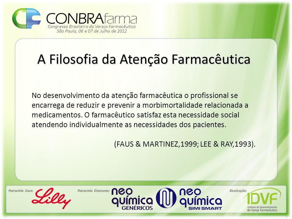 Congresso Brasileiro do Varejo Farmacêutico Patrocínio Ouro:Patrocínio Diamante:Realização: São Paulo, 06 e 07 de Julho de 2012 A Filosofia da Atenção