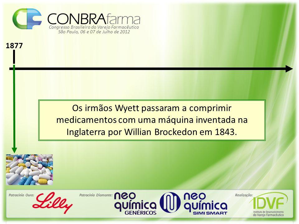Congresso Brasileiro do Varejo Farmacêutico Patrocínio Ouro:Patrocínio Diamante:Realização: São Paulo, 06 e 07 de Julho de 2012 1877 Os irmãos Wyett p
