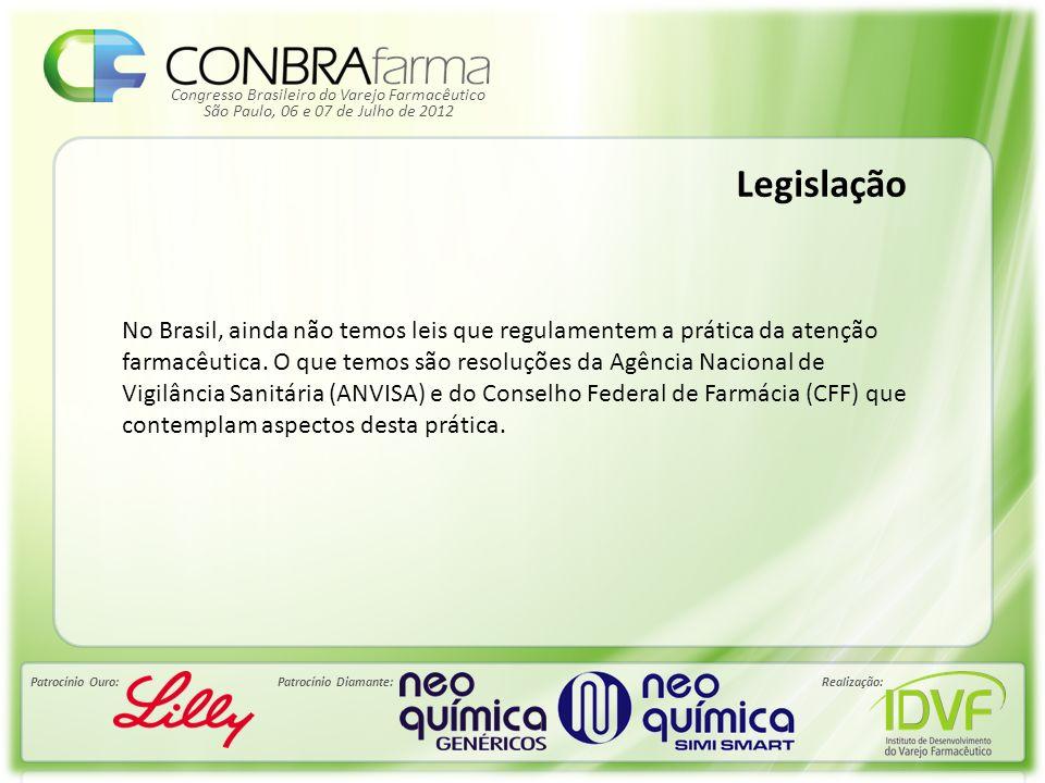 Congresso Brasileiro do Varejo Farmacêutico Patrocínio Ouro:Patrocínio Diamante:Realização: São Paulo, 06 e 07 de Julho de 2012 Legislação No Brasil,