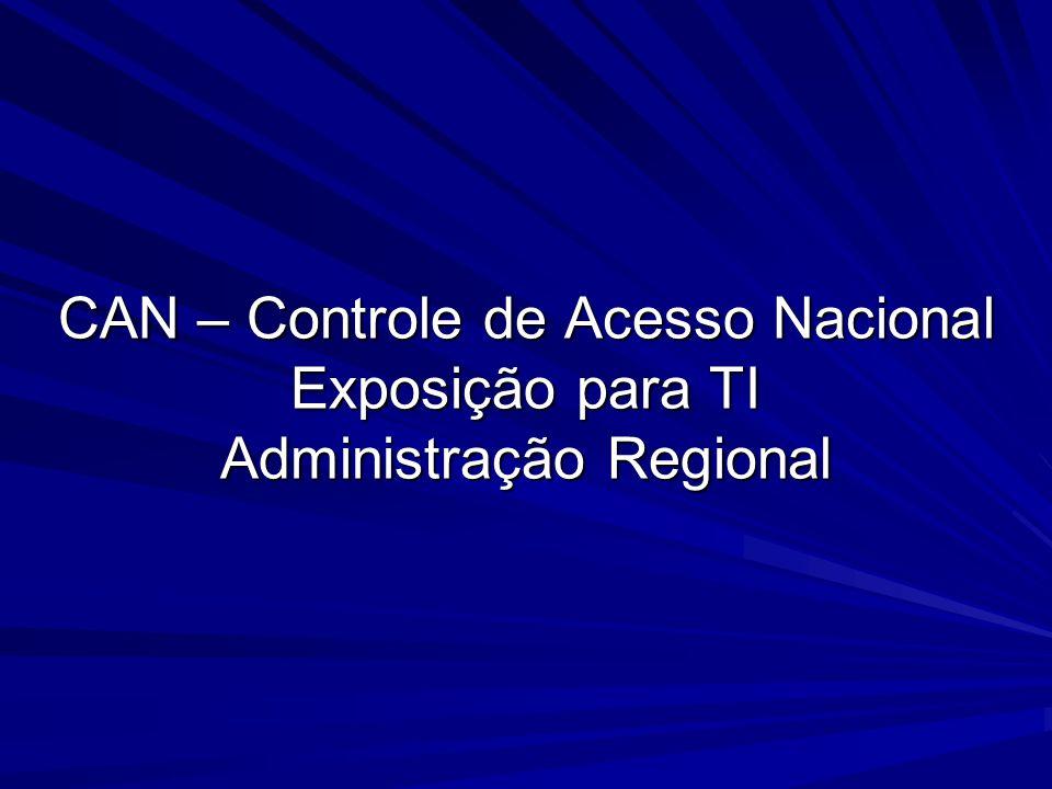 CAN – Controle de Acesso Nacional Exposição para TI Administração Regional