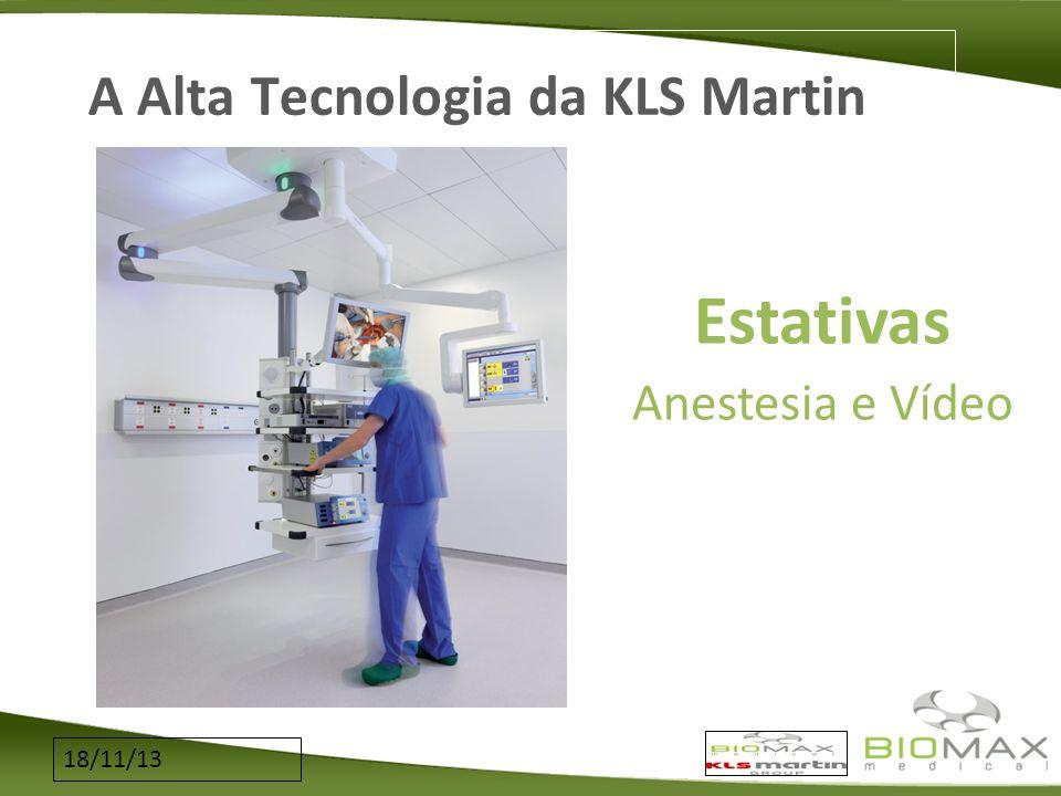 18/11/13 A Alta Tecnologia da KLS Martin Estativas Anestesia e Vídeo