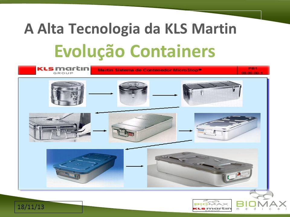 18/11/13 A Alta Tecnologia da KLS Martin Evolução Containers