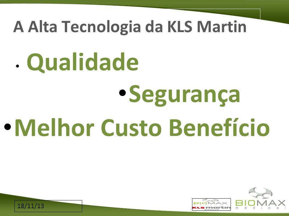 18/11/13 A Alta Tecnologia da KLS Martin Qualidade Melhor Custo Benefício Segurança