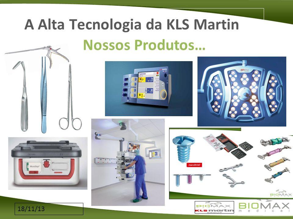 18/11/13 A Alta Tecnologia da KLS Martin Nossos Produtos…