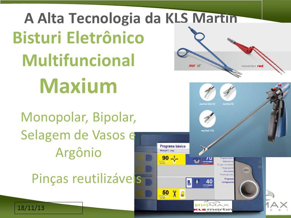 18/11/13 A Alta Tecnologia da KLS Martin Bisturi Eletrônico Multifuncional Maxium Monopolar, Bipolar, Selagem de Vasos e Argônio Pinças reutilizáveis