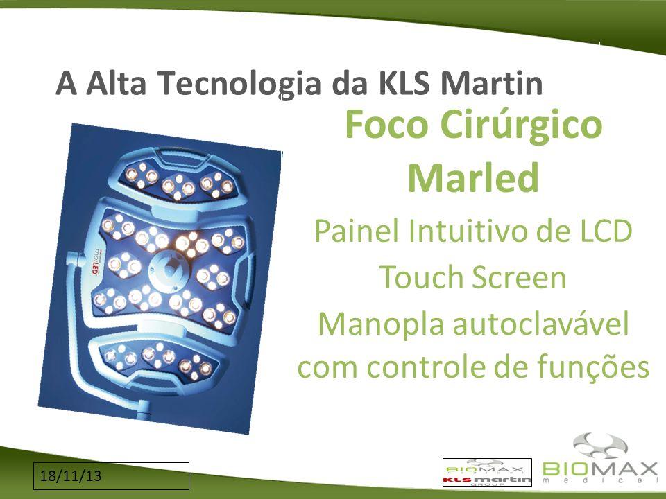 18/11/13 A Alta Tecnologia da KLS Martin Foco Cirúrgico Marled Painel Intuitivo de LCD Touch Screen Manopla autoclavável com controle de funções