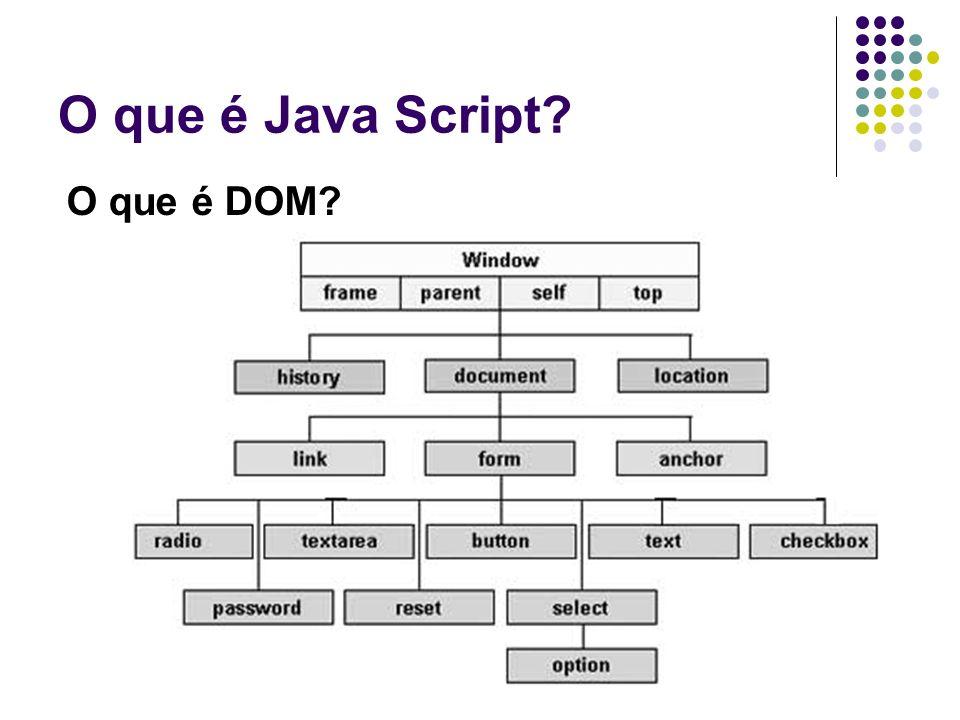 O que é Java Script O que é DOM