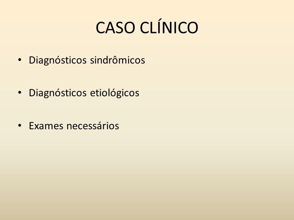 Diagnósticos sindrômicos Diagnósticos etiológicos Exames necessários