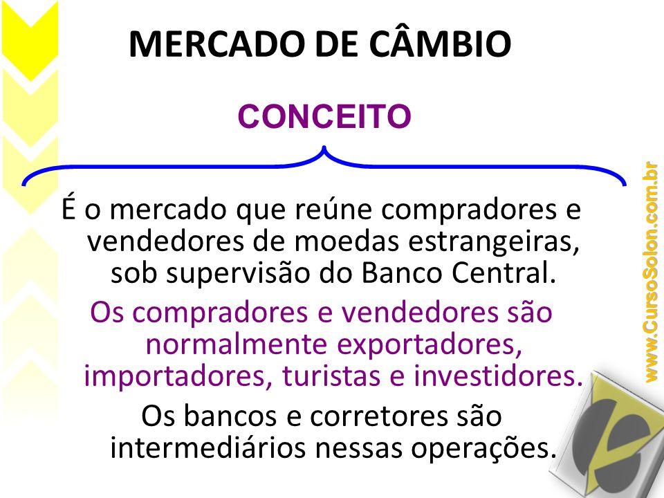 TAXAS DE CÂMBIO EM OPERAÇÕES OFICIAIS NO LIVRE MERCADO: Taxa Comercial (mercado de taxas livres): Uso em operações comerciais de im/exportação.