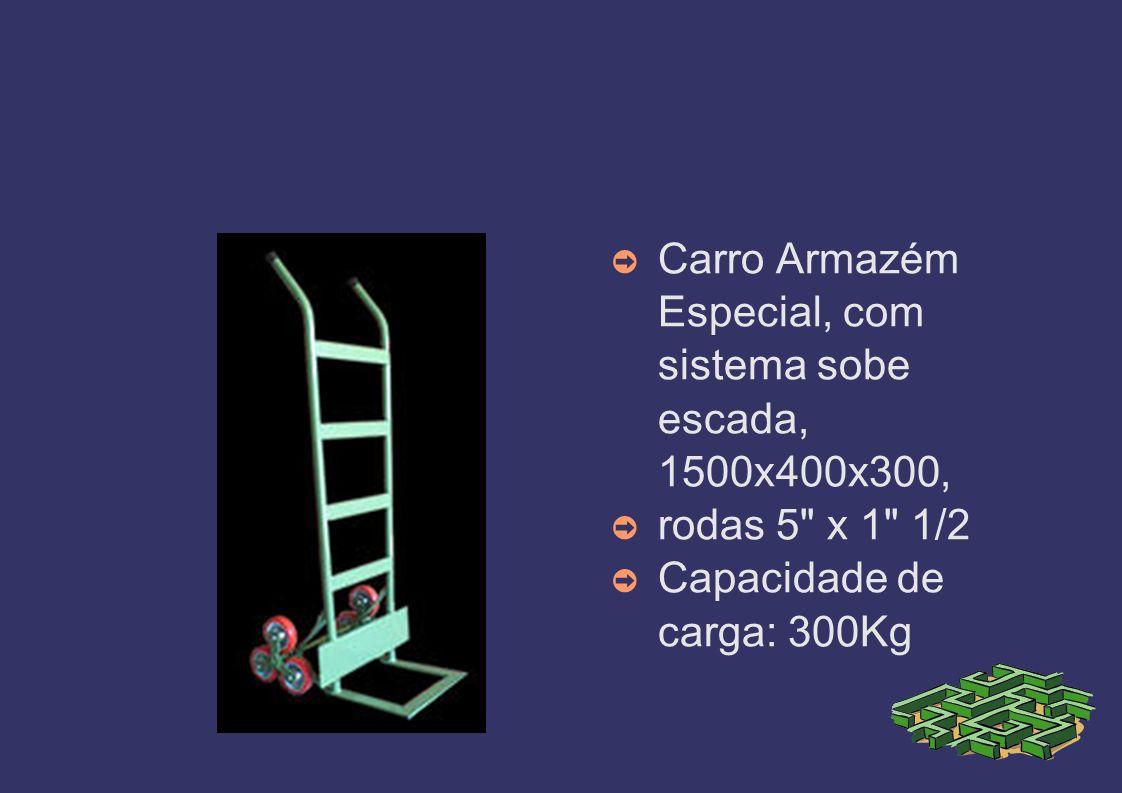 Carro Armazém Especial, com sistema sobe escada, 1500x400x300, rodas 5