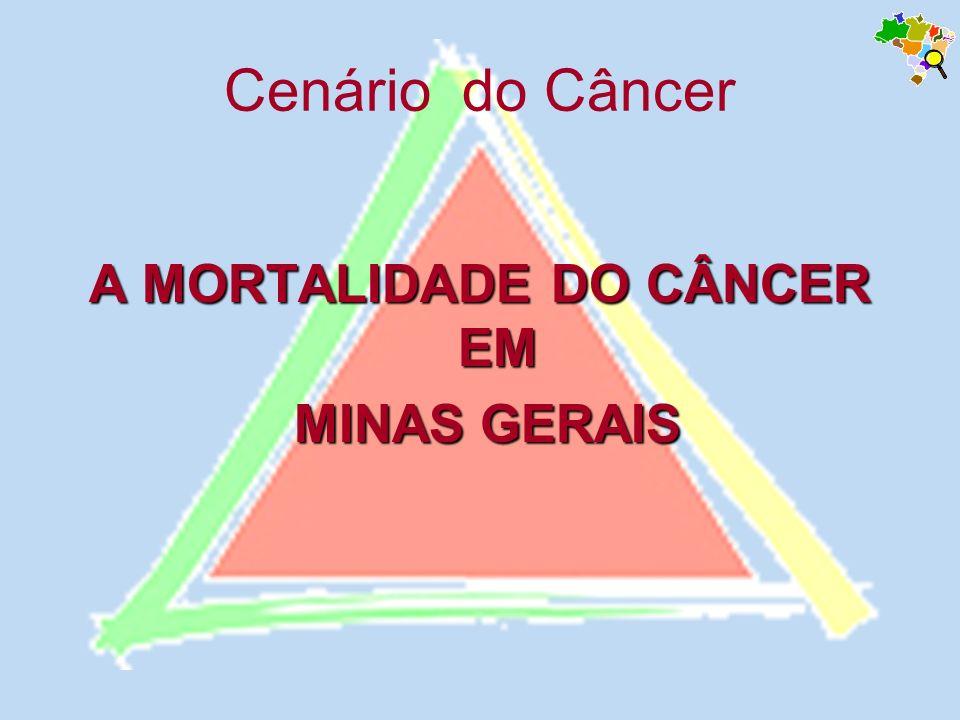 Cenário do Câncer A MORTALIDADE DO CÂNCER EM MINAS GERAIS MINAS GERAIS