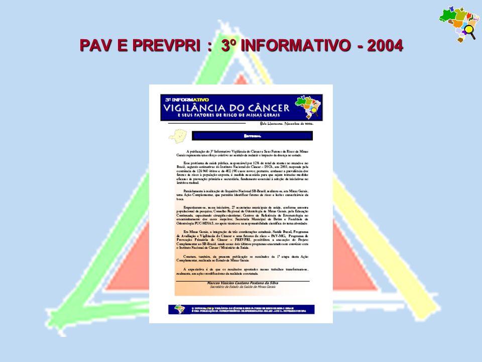 PAV E PREVPRI : 3º INFORMATIVO - 2004