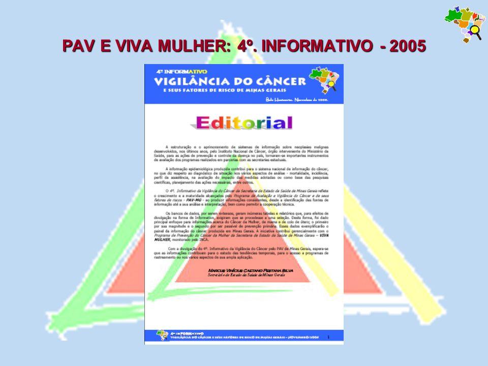 PAV E VIVA MULHER: 4º. INFORMATIVO - 2005