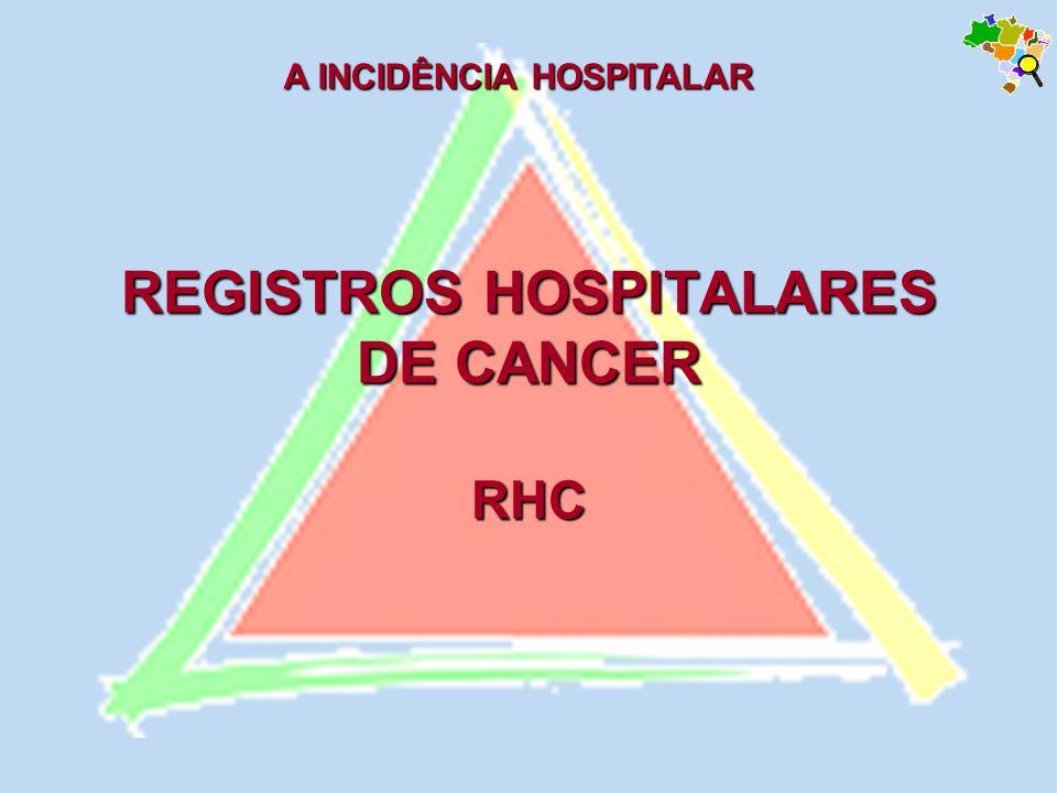 REGISTROS HOSPITALARES DE CANCER RHC A INCIDÊNCIA HOSPITALAR