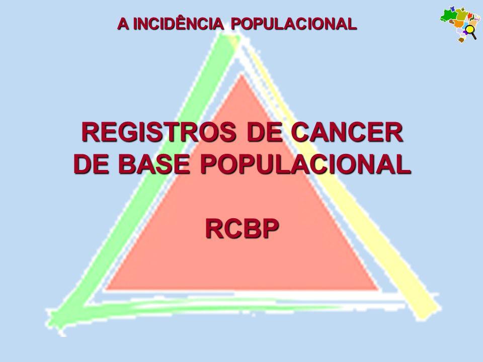 REGISTROS DE CANCER DE BASE POPULACIONAL RCBP A INCIDÊNCIA POPULACIONAL