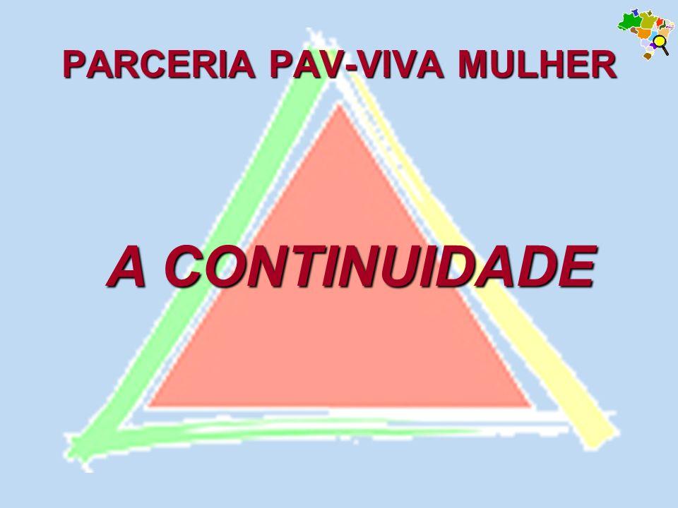 PARCERIA PAV-VIVA MULHER A CONTINUIDADE