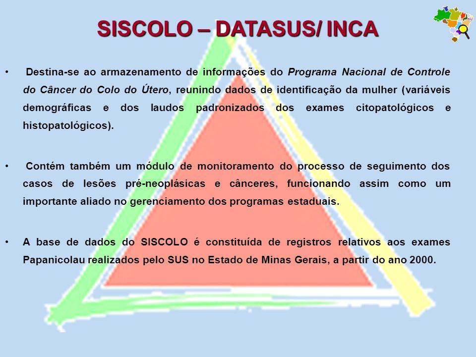 Destina-se ao armazenamento de informações do Programa Nacional de Controle do Câncer do Colo do Útero, reunindo dados de identificação da mulher (var