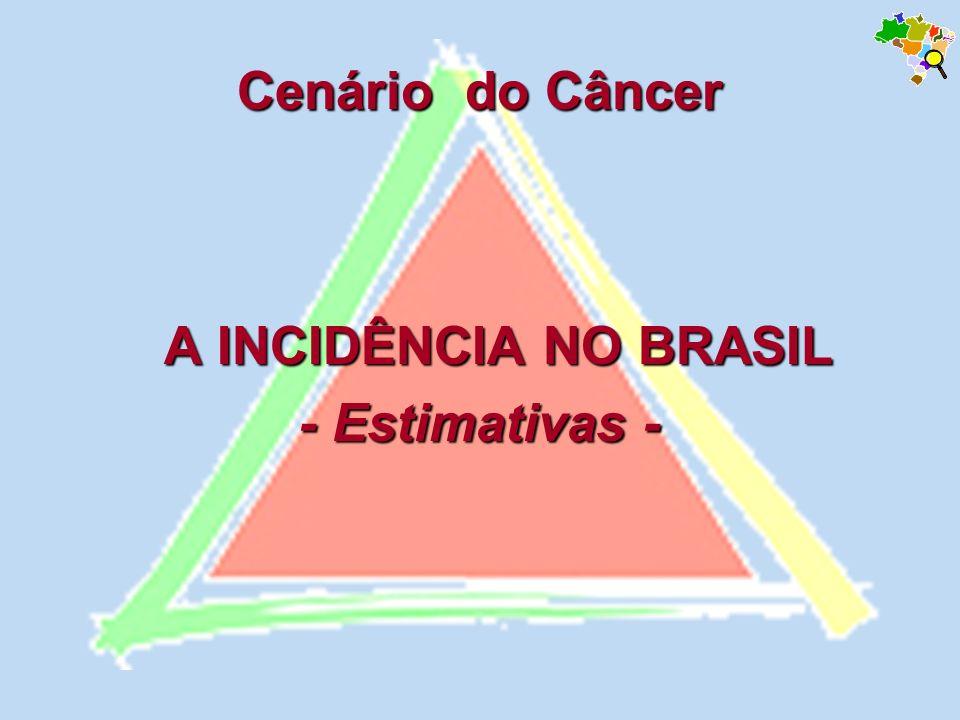 Fonte: Estimativa/2005-Incidência de Câncer no Brasil MS/Instituto Nacional de Câncer - INCA população brasileira Tipos de câncer mais incidentes, estimados para 2005, na população brasileira.