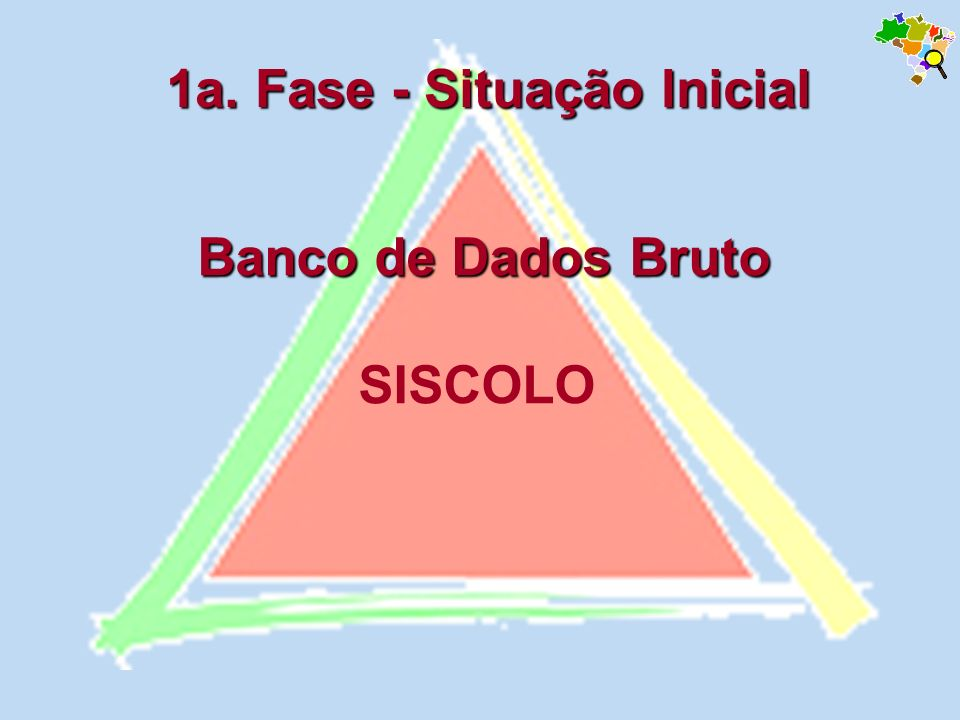 Banco de Dados Bruto Banco de Dados Bruto SISCOLO 1a. Fase - Situação Inicial