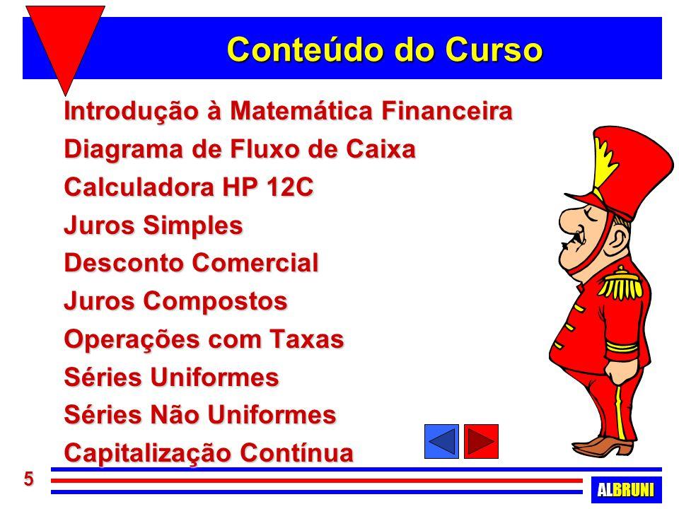 ALBRUNI 76 Operações com taxas Objetivos : Objetivos : –discutir aspectos relacionados às operações com taxas de juros –taxas nominais ou over –operações práticas no Brasil