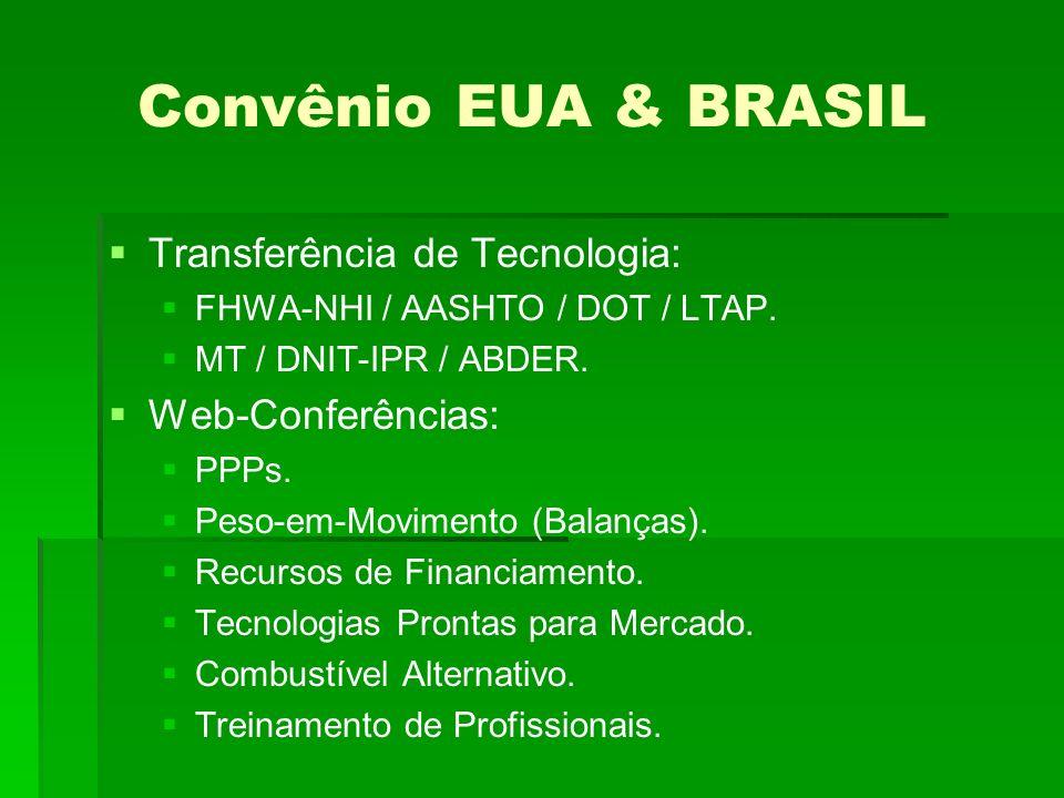 Convênio EUA & BRASIL Transferência de Tecnologia: FHWA-NHI / AASHTO / DOT / LTAP.