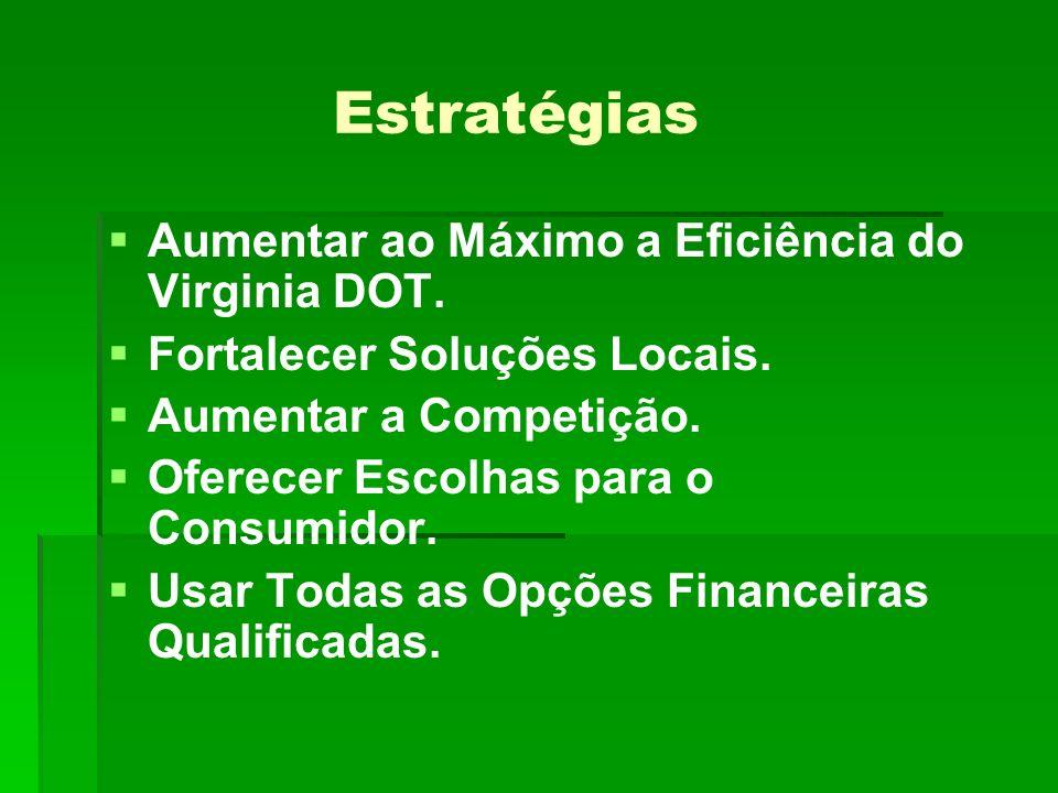 Estratégias Aumentar ao Máximo a Eficiência do Virginia DOT.