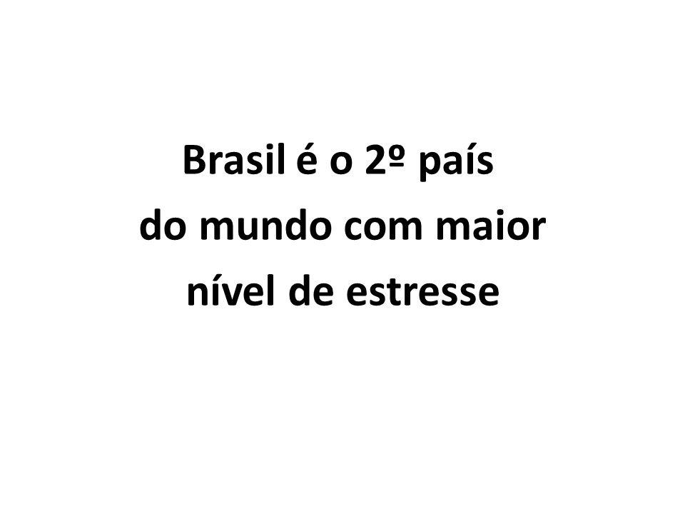 Brasil é o 2º país do mundo com maior nível de estresse
