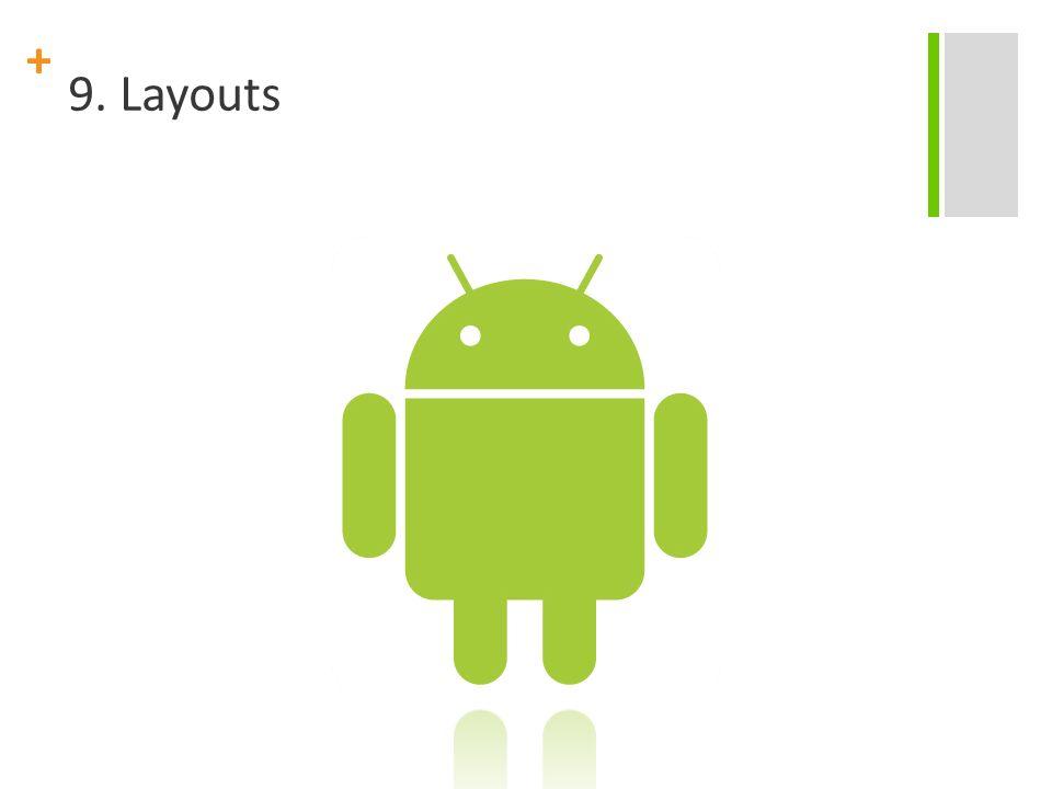 + FrameLayout FrameLayout é o tipo mais simples de layout.