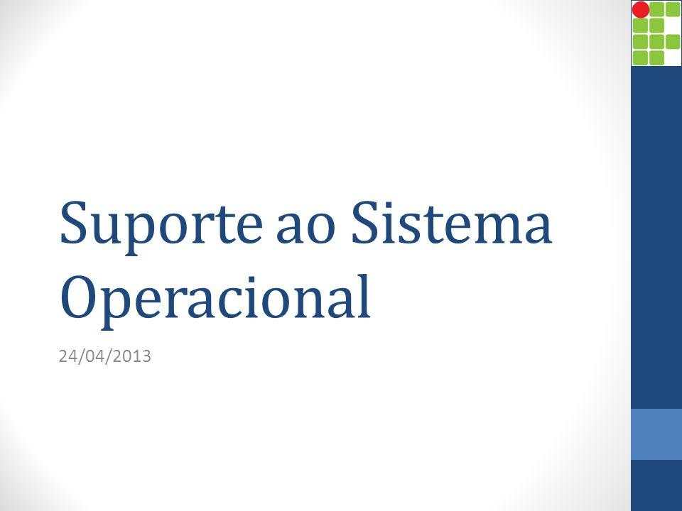 Suporte ao Sistema Operacional 24/04/2013