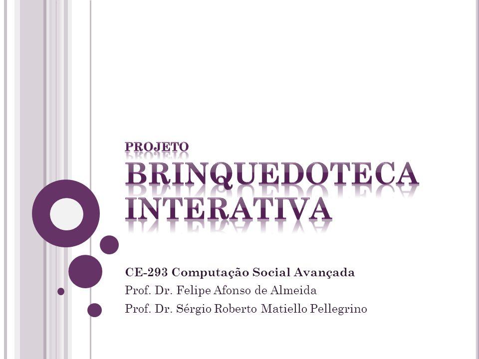 CE-293 Computação Social Avançada Prof.Dr. Felipe Afonso de Almeida Prof.