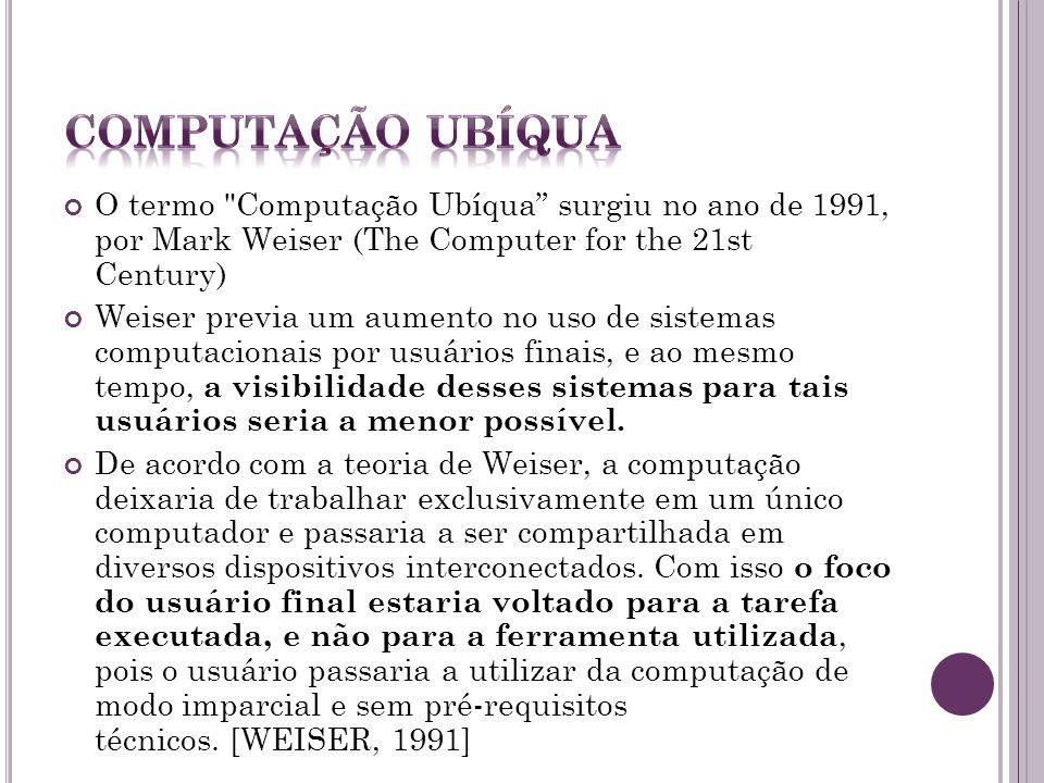 Computação ubíqua tem como objetivo tornar a interação humano-computador invisível, ou seja, integrar a informática com as ações e comportamentos natu