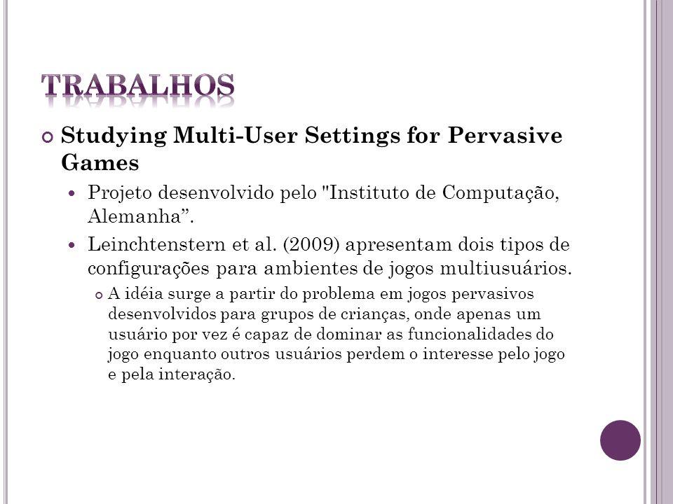 Pervasive Computing in Play-Based Occupational Therapy for Children (Computação Pervasiva em jogos baseados em terapia ocupacional para crianças) Proj