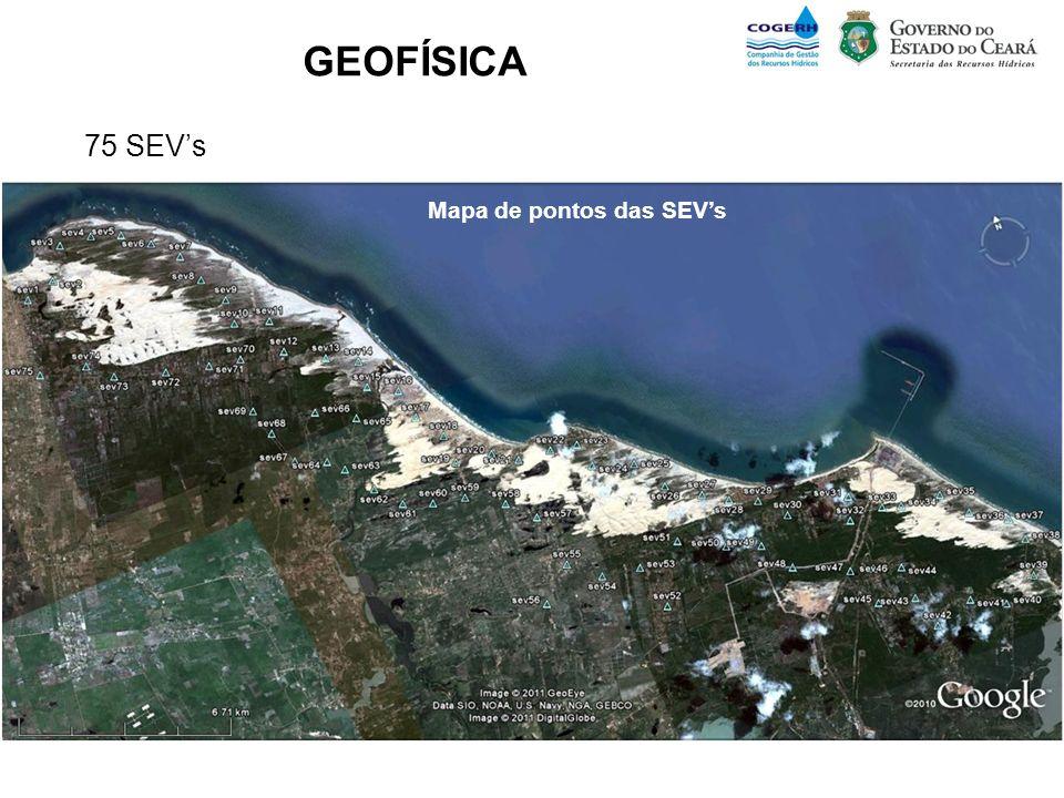GEOFÍSICA 75 SEVs Mapa de pontos das SEVs