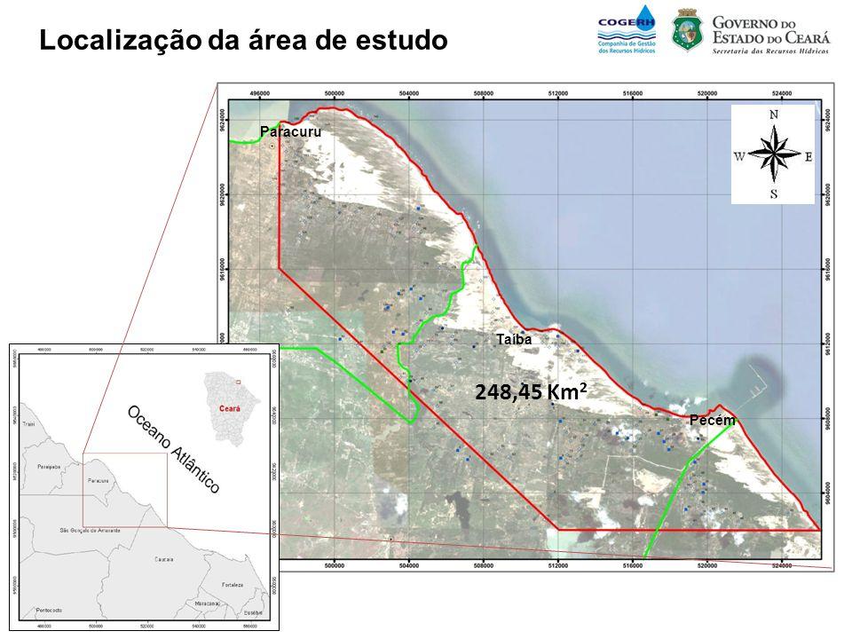Pecém Paracuru Taíba Localização da área de estudo 248,45 Km 2