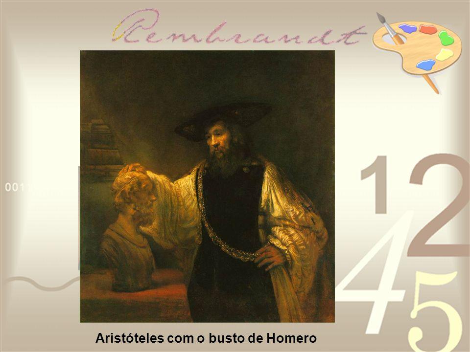Aristóteles com o busto de Homero
