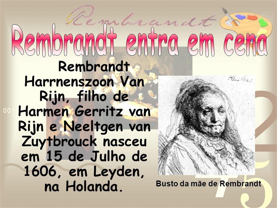 Rembrandt Harrnenszoon Van Rijn, filho de Harmen Gerritz van Rijn e Neeltgen van Zuytbrouck nasceu em 15 de Julho de 1606, em Leyden, na Holanda. Bust
