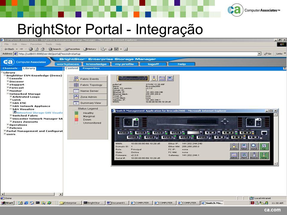 ca.com BrightStor Portal - Integração
