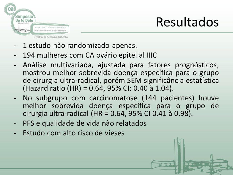 Resultados -1 estudo não randomizado apenas.