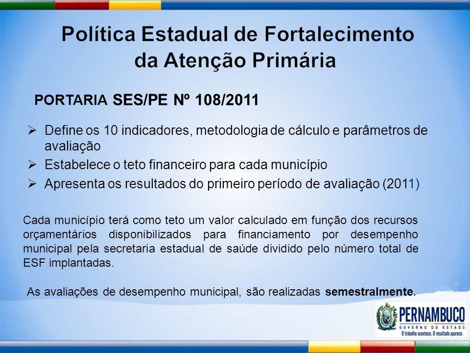 As avaliações de desempenho municipal, são realizadas semestralmente.
