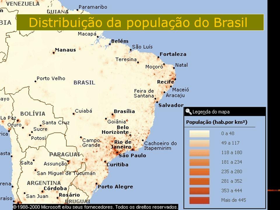 16 Distribuição da população do Brasil