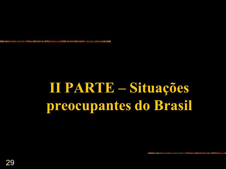 29 II PARTE – Situações preocupantes do Brasil