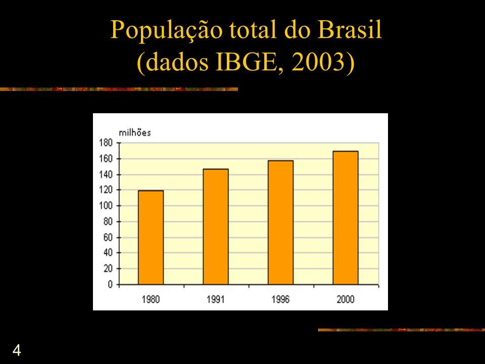 4 População total do Brasil (dados IBGE, 2003)