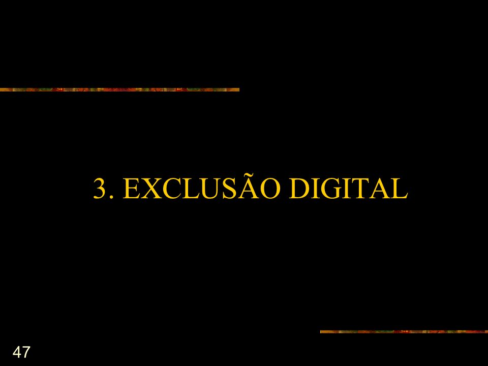 47 3. EXCLUSÃO DIGITAL