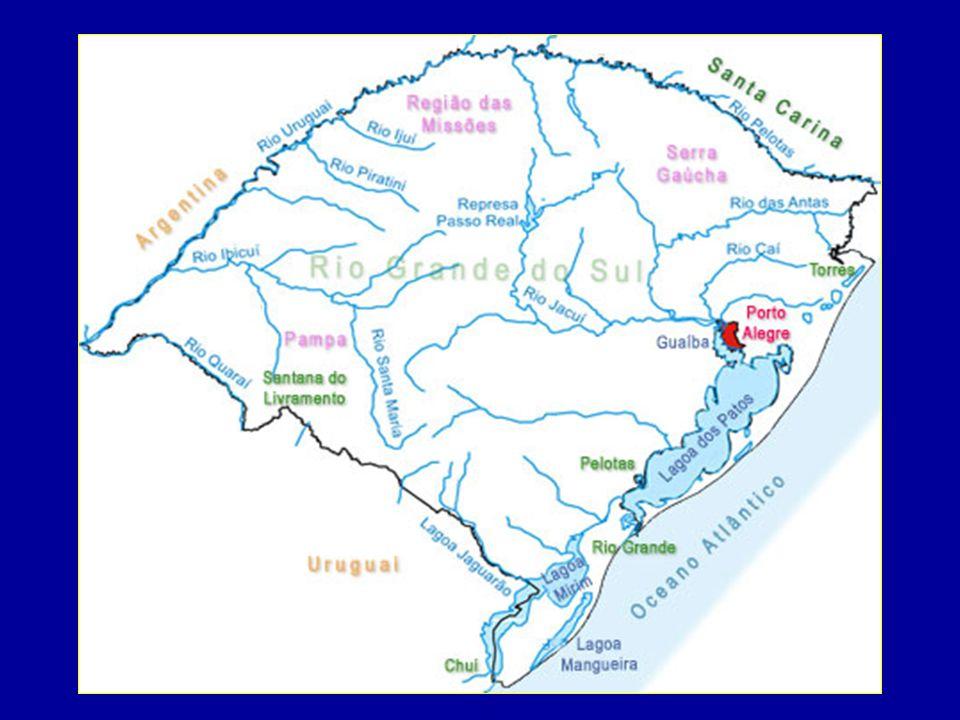 Hidrografia Bacia do Uruguai: formada pelo rio Uruguai e seus afluentes.