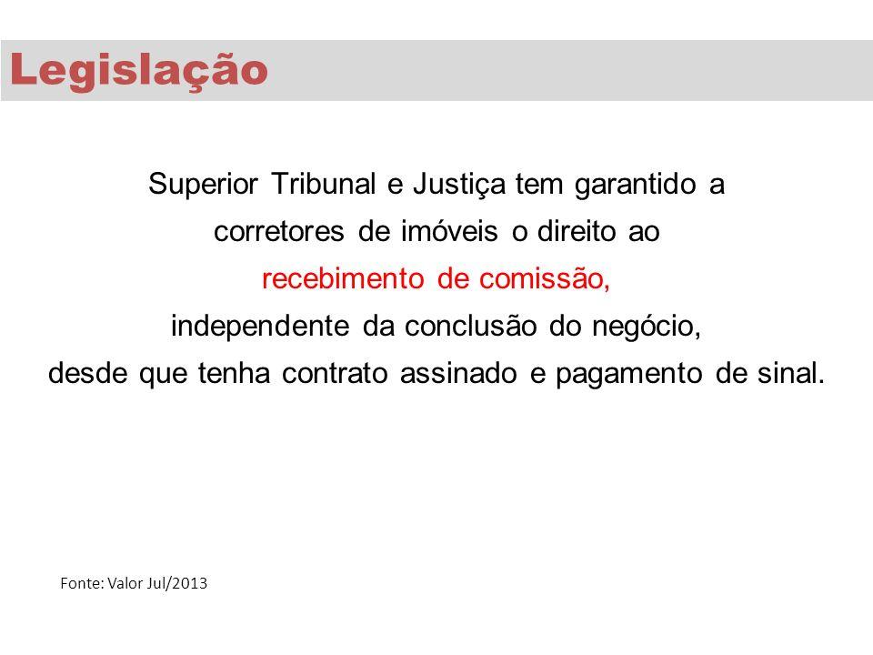 Superior Tribunal e Justiça tem garantido a corretores de imóveis o direito ao recebimento de comissão, independente da conclusão do negócio, desde qu