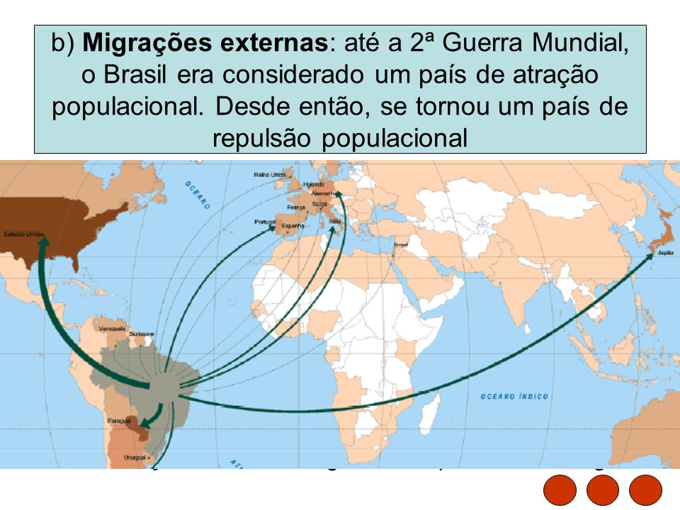 Folha de São Paulo - Mundo – (13/5/2005) Metade dos brasileiros que vivem no exterior está nos EUA. A estimativa oficial do governo brasileiro é de qu